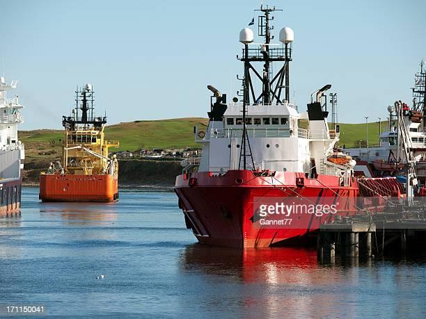 Boats in Aberdeen harbour