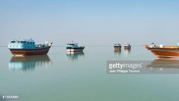 Boats in Bandar-e-Laft, Qeshm Island, Persian Gulf, Southern Iran