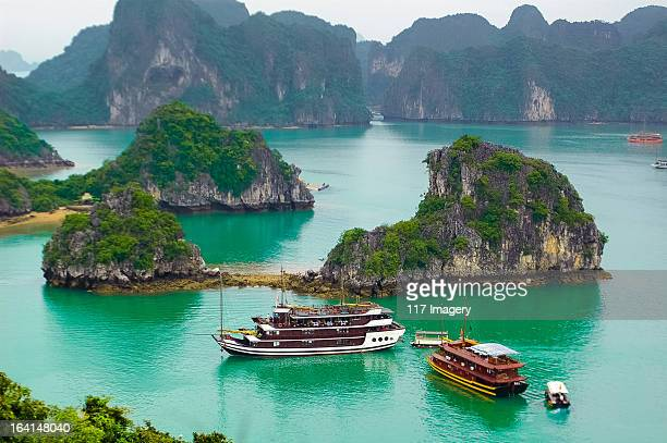 Boats in Ha Long Bay, Quang Ninh, Vietnam