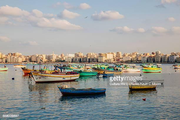 Boats in harbour, Alexandrea, Egypt
