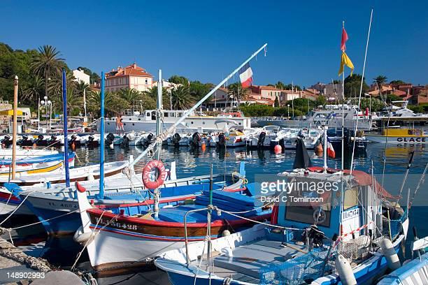 Boats in harbour on Ile de Porquerolles.
