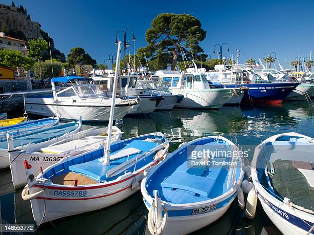 Boats in harbour.