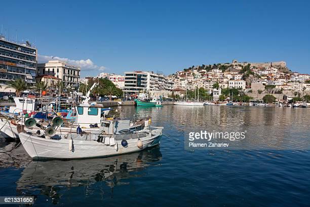 Boats in Kavala harbor