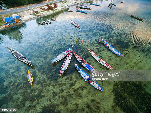 Boats in Lap An pond rammer