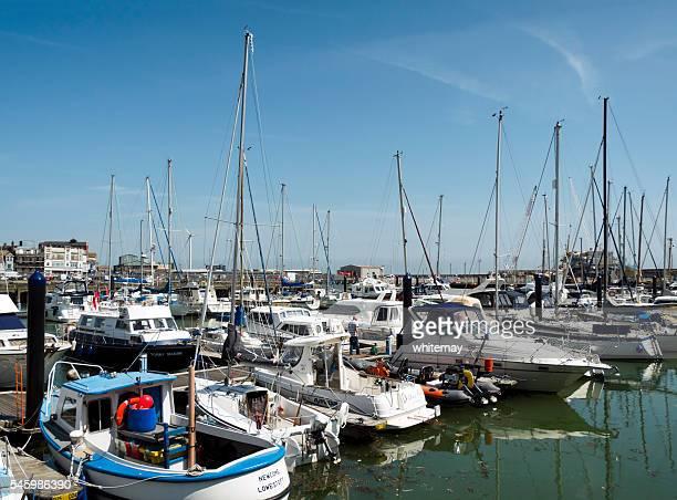 Boats in Lowestoft marina