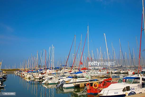 Boats in marina at Herzliya, Israel
