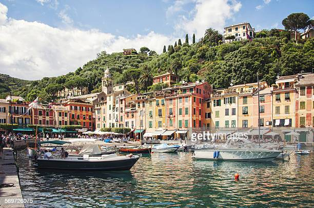 Boats in Portofino harbor, Liguria, Italy