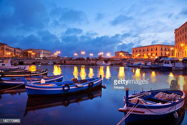 boats in sicily, italy - taormina stock pictures, royalty-free photos & images