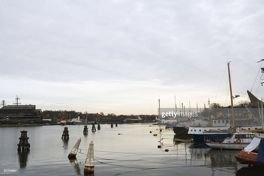 Boats in Stockholm Sweden. : Stock Photo