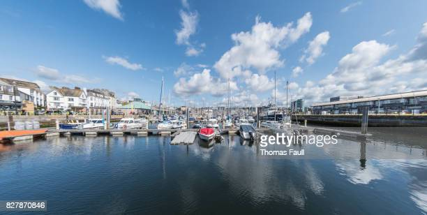 Boats in Sutton Harbour in Plymouth