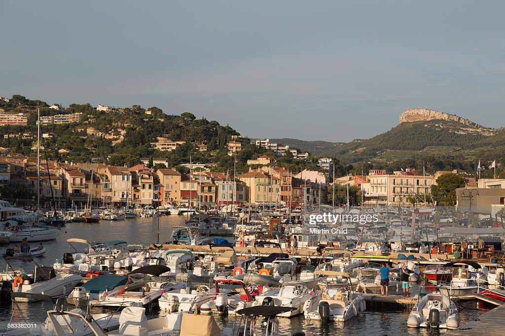 Boats in the harbour at Cassis : Stock Photo