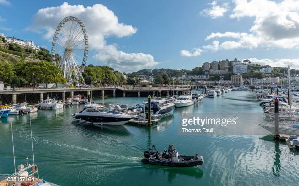 boats in the marina in torquay, devon - marina stock photos and pictures