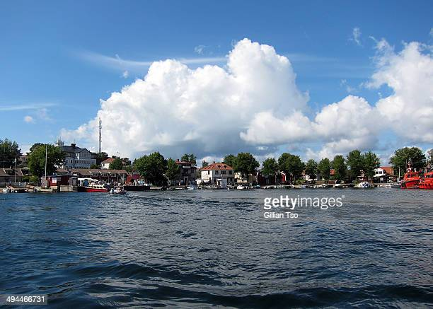 Boats in the marina of Sandhamn Island, Sweden