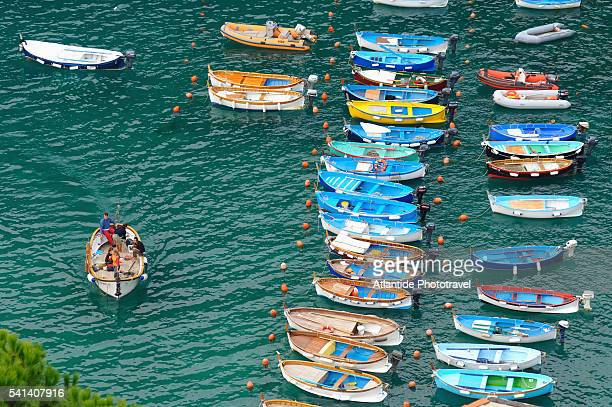 Boats in the Vernazza harbor