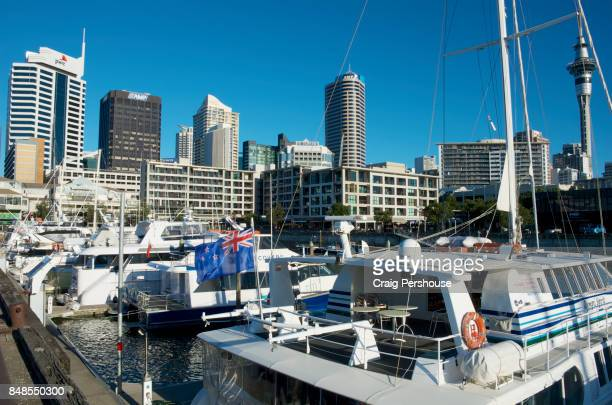 Boats in Viaduct Harbour.