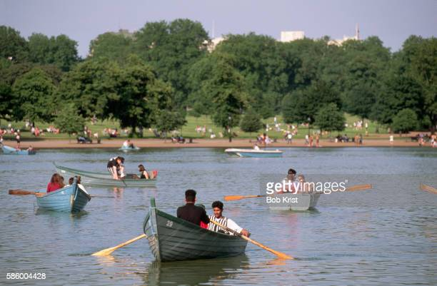 Boats in Water at Hyde Park