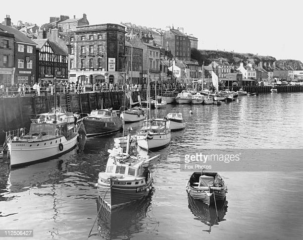 Boats in Whitby Harbour Yorkshire 12th October 1972