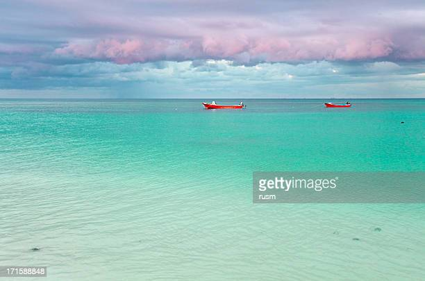 barcos, méxico - playa del carmen - fotografias e filmes do acervo