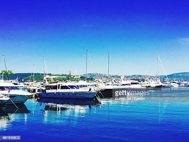 Boats Moored In Harbor