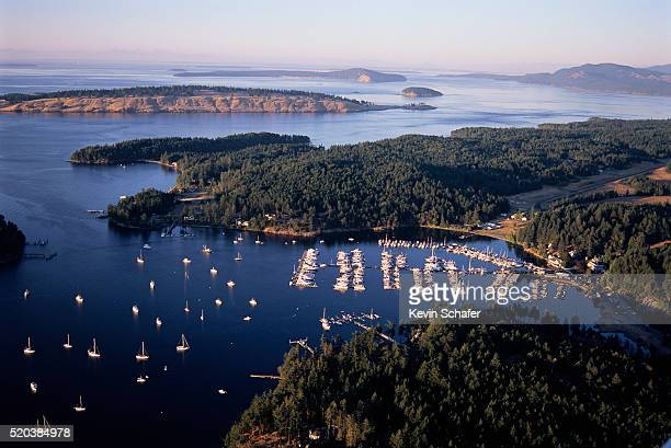 Boats Moored in Roche Harbor