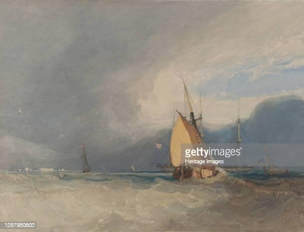 Boats off the Coast Storm Approaching 1830 Artist John Sell Cotman