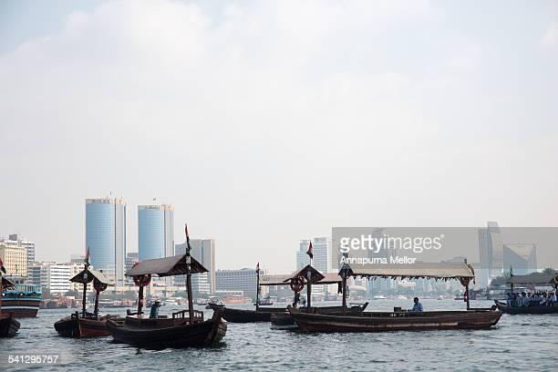 Boats on Dubai Creek, UAE