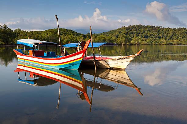 Boats on lagoon, Tanjung Rhu.