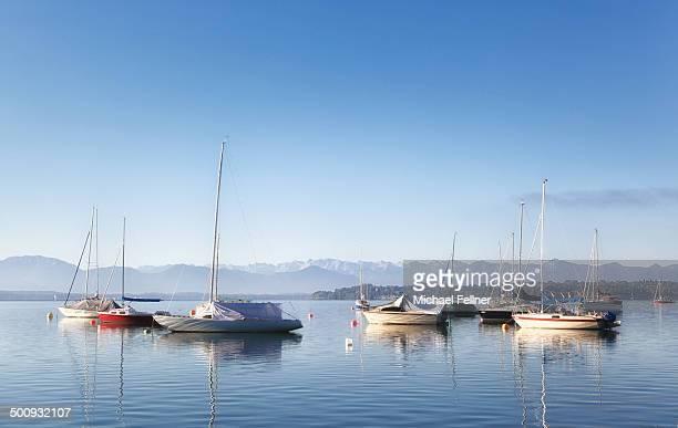 Boats on Lake Starnberg - Germany