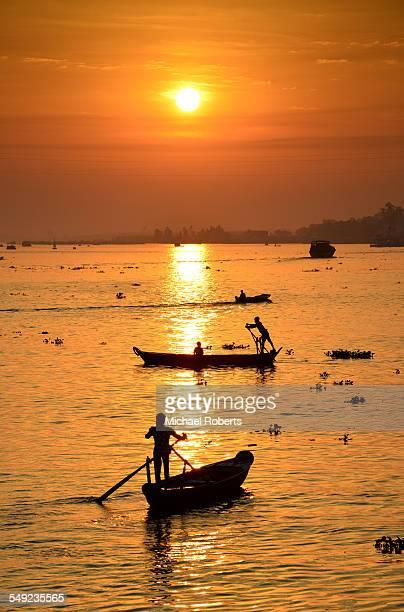 Boats on Mekong delta, Chau Doc