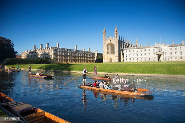 boats on river - cambridge university stock pictures, royalty-free photos & images