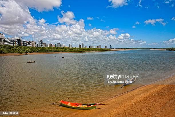 boats on sergipe river - brasil sergipe aracaju - fotografias e filmes do acervo