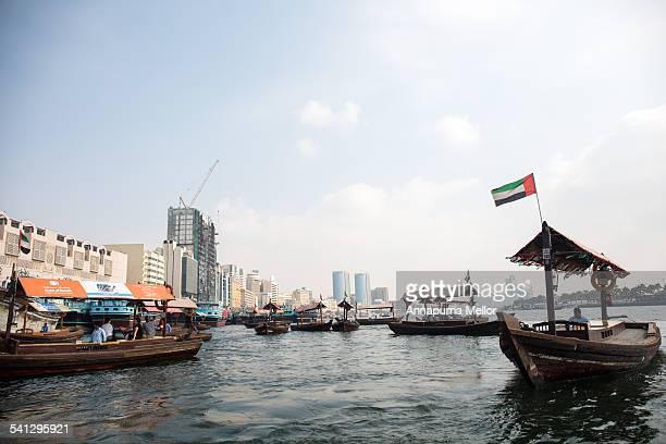 Boats on the Dubai Creek, Bur Dubai, UAE