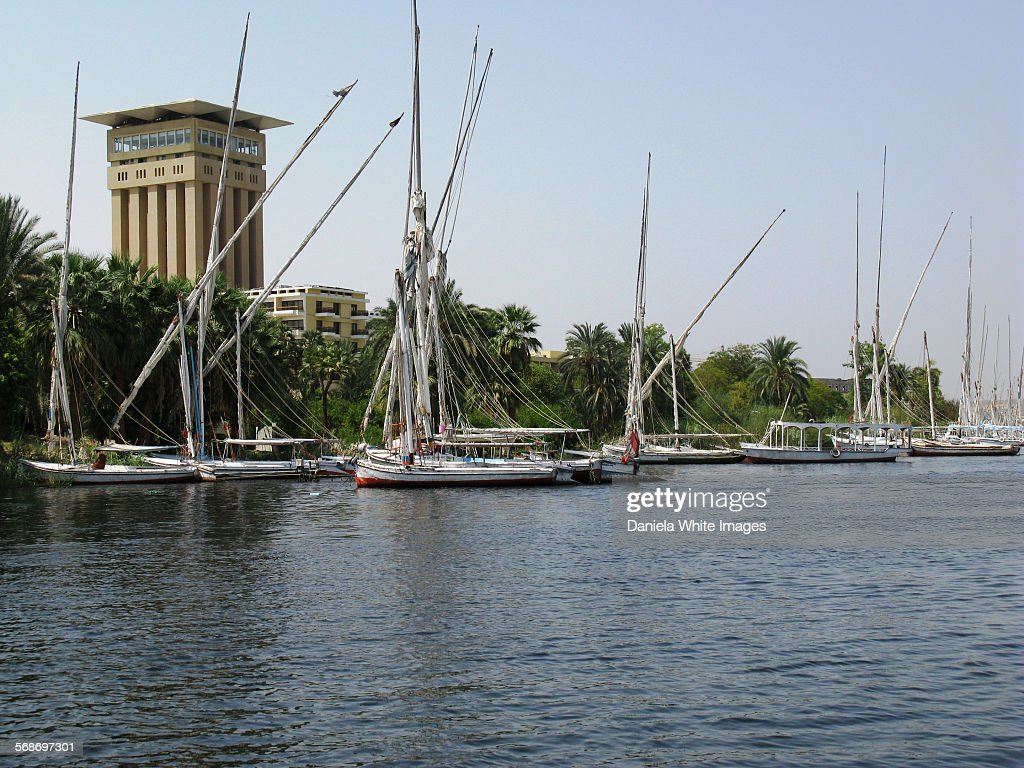Boats on the Nile : Stock Photo