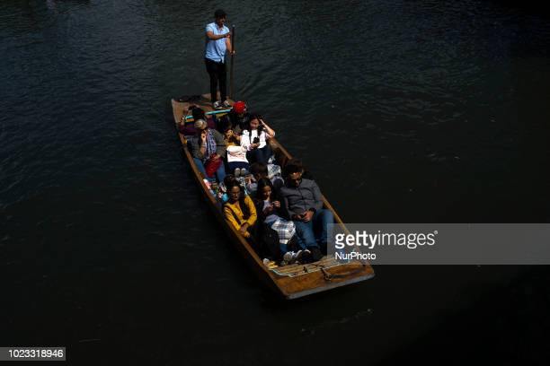 Boats on the river Cam are pictured in Cambridge on August 25 2018 Cambridge is home to the worldrenowned University of Cambridge which was founded...