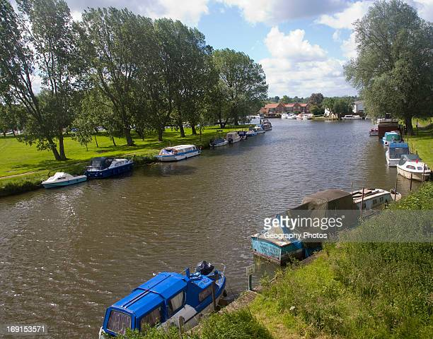 Boats on the River Waveney Beccles Suffolk England