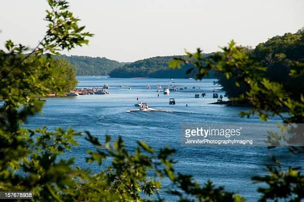 ボートで、セントクロイ川
