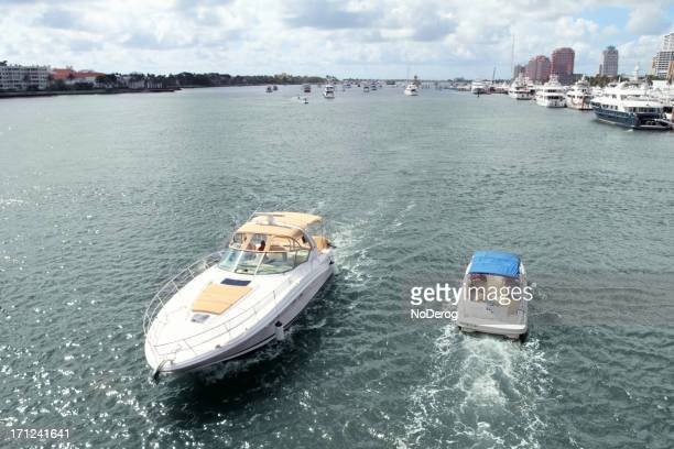 Boats passing  on Intracoastal Waterway near West Palm Beach