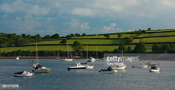 boats, river fal - tony howell stock pictures, royalty-free photos & images