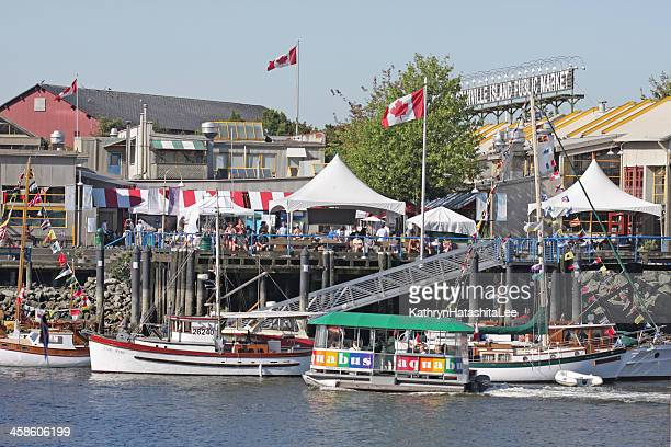 Boats, Tents and Festivals on Granville Island, Vancouver, British Columbia