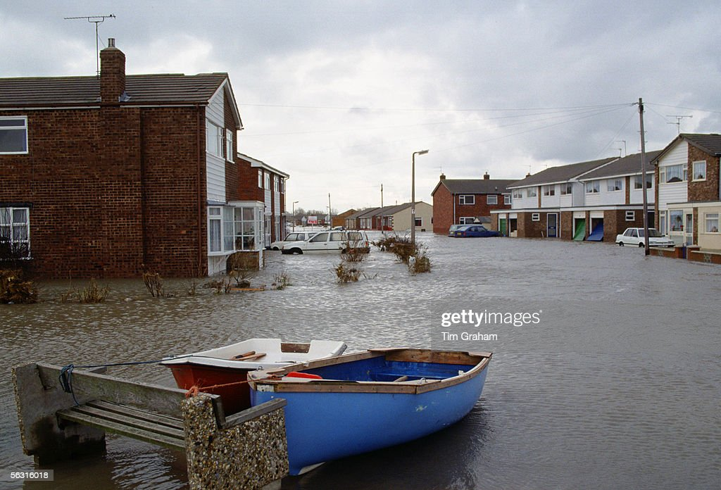 Towyn and Kinmel Bay Floods, 1990 - Thousands of residents were evacuated from their homes in Wales after huge waves breached the area's sea defences