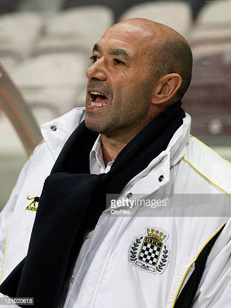 Boavista coach Jaime Pacheco during a Portuguese Bwin League 16th round match between Boavista and Sporting in Porto Portugal on January 28 2007