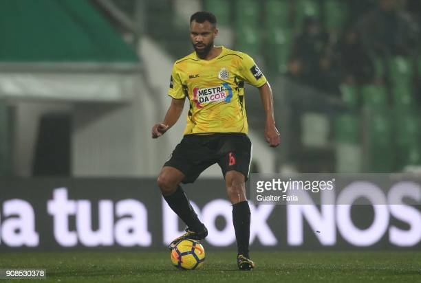 Boavista FC defender Robson from Brazil in action during the Primeira Liga match between Rio Ave FC and Boavista FC at Estadio dos Arcos on January...