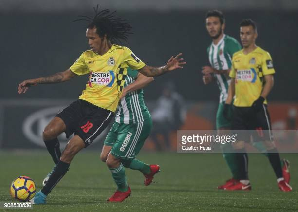 Boavista FC forward Kuca from Cape Verde in action during the Primeira Liga match between Rio Ave FC and Boavista FC at Estadio dos Arcos on January...