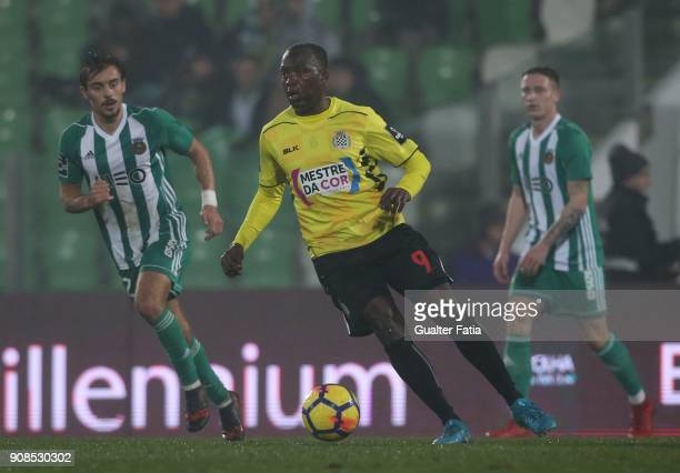 Boavista FC forward Mateus from Angola in action during the Primeira Liga match between Rio Ave FC and Boavista FC at Estadio dos Arcos on January 21...