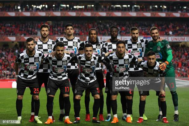 Boavista FC initial team during the Premier League 2017/18 match between SL Benfica v Boavista FC at Luz Stadium in Lisbon on February 17 2018