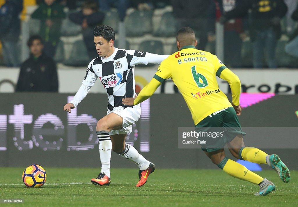 Boavista FC's forward Renato Santos in action during the Primeira Liga match between Pacos de Ferreira and Boavista FC at Estadio da Mata Real on December 5, 2016 in Pacos de Ferreira, Portugal.