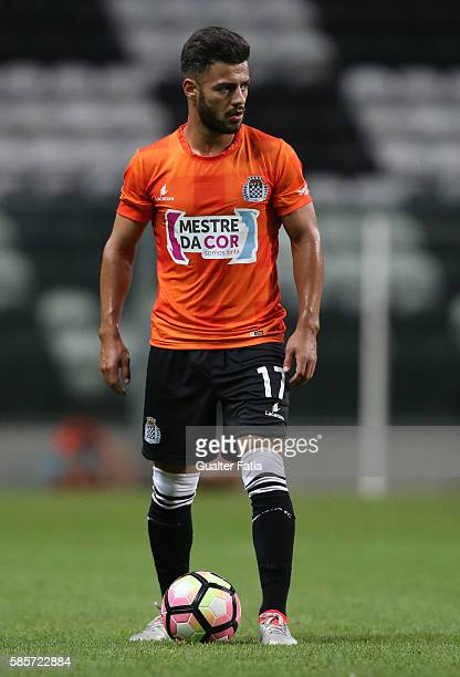 Boavista FC's midfielder Carraca in action during the PreSeason Friendly match between Boavista FC and Real Club Celta de Vigo at Estadio do Bessa on...