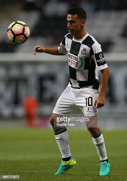 Boavista FC's midfielder Fabio Espinho in action during the PreSeason Friendly match between Boavista FC and Real Club Celta de Vigo at Estadio do...