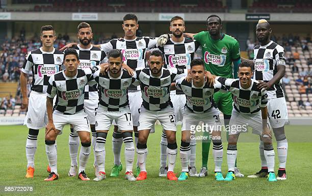 Boavista FC's players pose for a team photo before the start of the PreSeason Friendly match between Boavista FC and Real Club Celta de Vigo at...