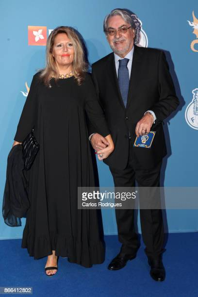 Boavista President Alvaro Braga Junior and wife attends FC Porto Gala Dragoes de Ouro 2016 2017 at Dragao Caixa on October 25 2017 in Porto Portugal